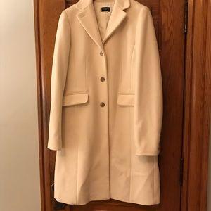 White j. Crew 100% wool coat, size 6/8